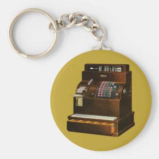 Porte-clés Commerce de détail vintage, caisse enregistreuse
