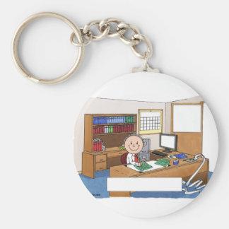 Porte-clés Comptable, mâle - cadeau personnalisé de bande