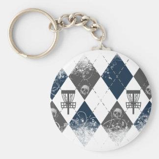 Porte-clés Conception à motifs de losanges de golf de disque