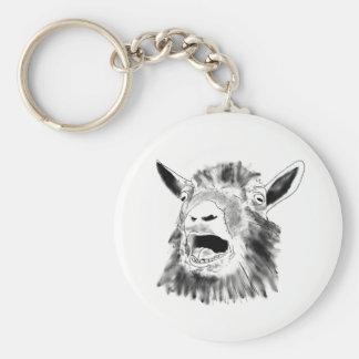 Porte-clés Conception animale d'art de dessin criard drôle de
