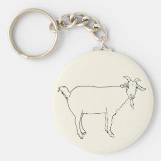 Porte-clés Conception animale d'art de dessin satisfait drôle