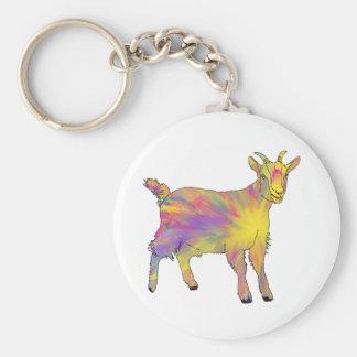 Porte-clés Conception animale de chèvre flamboyante jaune