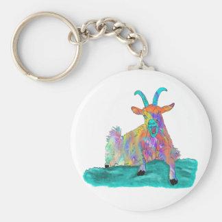 Porte-clés Conception animale de peinture d'art de chèvre