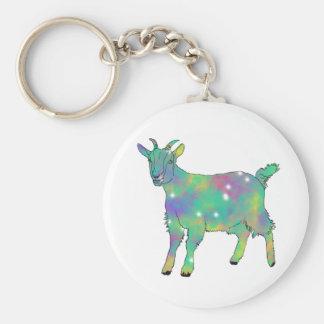 Porte-clés Conception animale drôle de chèvre psychédélique