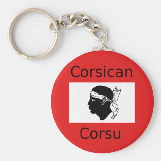 Porte-clés Conception corse de drapeau et de langue