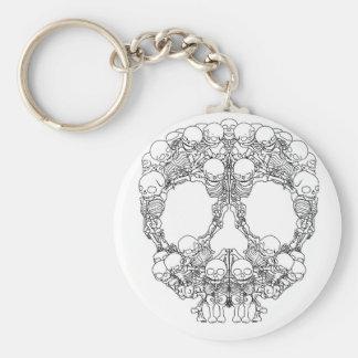 Porte-clés Conception de crâne - pyramide des crânes