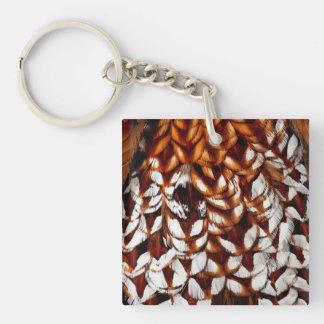 Porte-clés Conception de cuivre de plume de faisan