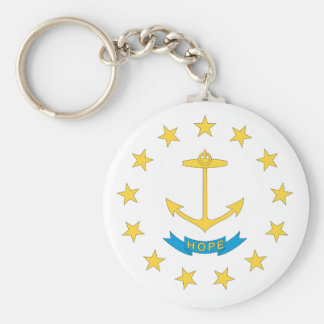 Porte-clés Conception de drapeau d'ÎLE DE RHODE -