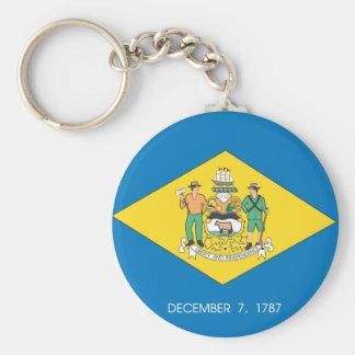 Porte-clés Conception de drapeau du DELAWARE -