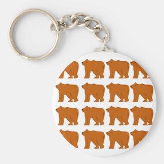 Porte-clés Conception de nounours sur le blanc