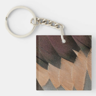 Porte-clés Conception de plume de canard de canard pilet