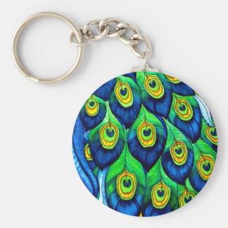 Porte-clés Conception de plumes de paon
