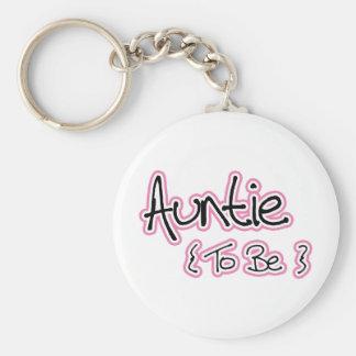 Porte-clés Conception de rose et de noir pour des tantes