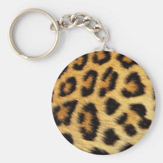 Porte-clés Conception d'impression de motif de léopard