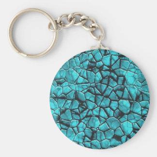 Porte-clés Conception en pierre de marbre bleue fraîche de