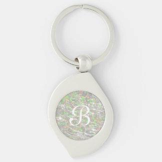 Porte-clés Conception en verre crépitée de pierre