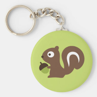 Porte-clés Conception mignonne d'écureuil de bébé