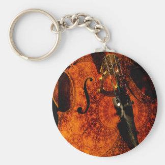 Porte-clés Conception modelée artistique de violoncelle