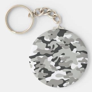 Porte-clés Conception noire et grise de Camo