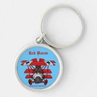 Porte-clés Conception plate de porte - clé de baron rouge