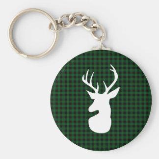 Porte-clés Conception verte élégante de cerfs communs de