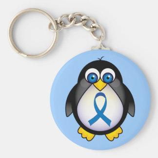 Porte-clés Conscience mignonne Kechain de pingouin de ruban