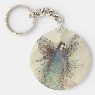 Porte-clés Conte de fées japonais vintage, la jeune fille de