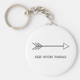 Porte-clés Continuez à avancer