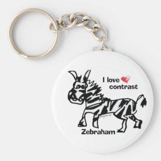 Porte-clés Contraste d'amour de Zebraham- I