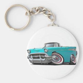 Porte-clés Convertible 1957 de turquoise de Chevy Belair