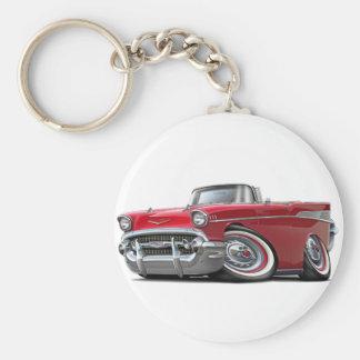 Porte-clés Convertible 1957 rouge de Chevy Belair