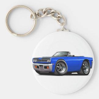 Porte-clés Convertible 1969 Bleu-Noir de capot de Roadrunner