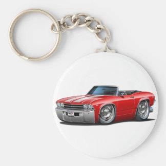 Porte-clés Convertible 1969 Rouge-Blanc de Chevelle
