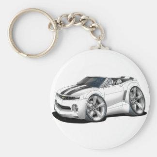 Porte-clés Convertible 2012 Blanc-Noir de Camaro