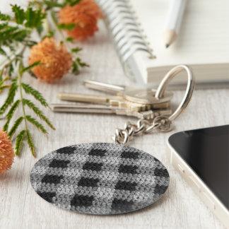 Porte-clés Copie noire de crochet de plaid d'affaires de