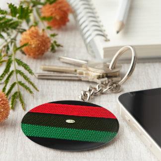 Porte-clés Copie noire de Shell de cauri et verte rouge de