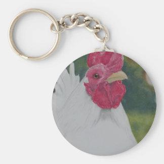 Porte-clés Coq blanc