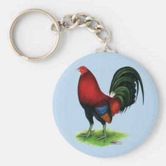 Porte-clés Coq de combat :  Rouge foncé