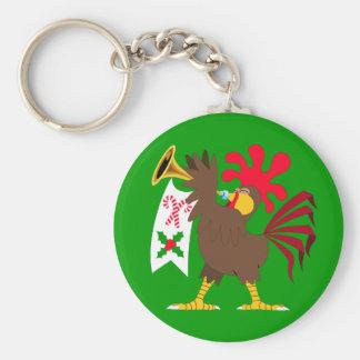 Porte-clés Coq de son de la trompette de Noël