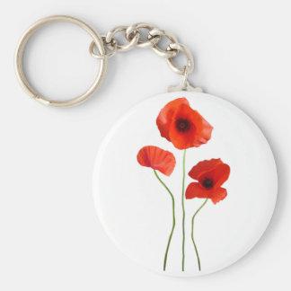 Porte-clés coquelicot -poppy