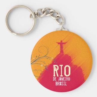 Porte-clés Corcovado rouge Rio-Brésil
