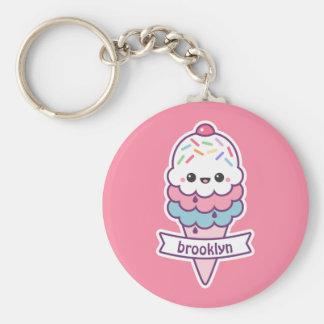 Porte-clés Cornet de crème glacée de Kawaii