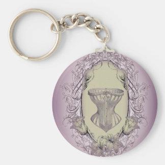 Porte-clés Corset victorien de jeune mariée vintage lilas de