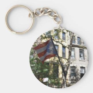 Porte-clés Côté Ouest supérieur NY de drapeau portoricain de