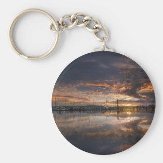 Porte-clés Coucher du soleil à la marina dans Anacortes à