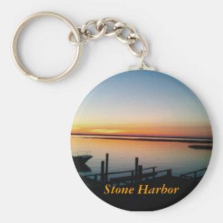 Porte-clés coucher du soleil dans le porte - clé en pierre de