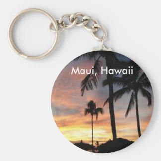 Porte-clés Coucher du soleil dans Maui, Hawaï