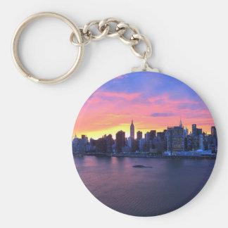 Porte-clés Coucher du soleil de New York City