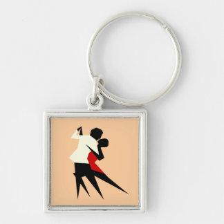 Porte-clés couples cubiques de suare de porte - clé