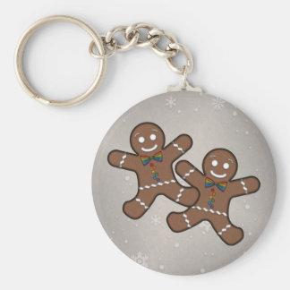 Porte-clés Couples de pain d'épice de gay pride